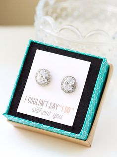 Personalized Bridesmaids Gift, Crystal Stud Earrings, Bridesmaids Earrings, Bridesmaids Studs, Bridesmaids Gifts, Bridal Party Gift, E268 on Etsy, $28.88 AUD