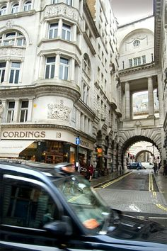 Air Street, London. This is one of those magical London streets you never hear about and discover, dancing with delight, because you're WALKING and not riding a tour bus or the tube. Air Street is between Regent and Picadilly, and this is the best way I can tell you to find it: Go to Picadilly Circus and follow the lovely curve of Regent Street. It's just ahead on your right.