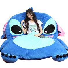 Giant Lilo Stitch Plush Single Beanbag Cartoon Tatami Bed Sleeping Bag for sale online Lilo And Stitch Quotes, Lilo Et Stitch, Lilo And Stitch Toys, Peluche Stitch, Tatami Bed, Cute Disney Outfits, Stitch And Angel, Cute Stitch, Cute Disney Wallpaper
