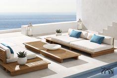 Resultado de imagem para móveis em madeira área externa
