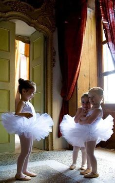 little ballerinas dressed in their tutus ~ sweet
