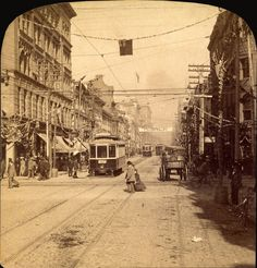 Looking north on Yonge Street from King Street, Toronto, Ontario, Canada, 1895