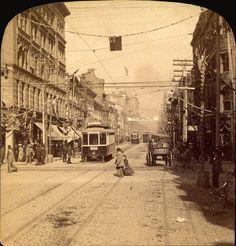 Looking north on Yonge Street from King Street, Toronto, Ontario, Canada, 1895