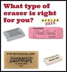 Types Of Erasers Which One Is Right For You