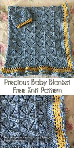 Precious Baby Blanket [Free Knit Pattern] #knitting #knit #knittingpattern