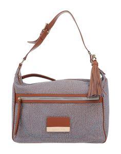 BORBONESE . #borbonese #bags #shoulder bags #hand bags #leather #hobo #