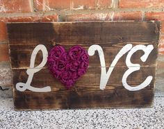 Love Sign Script Wedding Decor Wooden Photo Prop