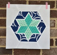 I cannot wait for the paper piecing template of this hexie star block by Jessica Kelly of Sew Crafty Jess. Adorable!