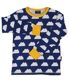 Maxomorra Shirt lange mouw Clouds Blue