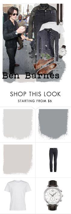 """Ben Barnes"" by monika-85 on Polyvore featuring Scotch & Soda, Pier 1 Imports, Allen Edmonds, LE3NO, Tissot, men's fashion i menswear"