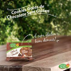 Os Cookies Integrais de Soja Gotas de Chocolate sem Glúten da GoodSoy são perfeitos para qualquer momento do dia! Compre online e receba em casa!