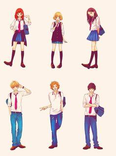 Futaba, Yuuri, Murao, Kikuchi, Kominato, and Kou   ~Ao Haru Ride