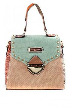 671a4583d1 Mix   Match Color Block Satchel in Mint Beige by Nicole Lee USA