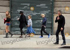 Actor Timothy Olyphant , his wife Alexis Knief and their three children Grace, Vivian and Henry take a stroll in Soho on March 28 2012 in New York City