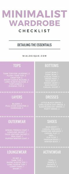 A simple, straightforward minimalist wardrobe checklist infographic to build a s. A simple, straightforward minimalist wardrobe checklist infographic to build a solid foundation of Latest Summer Fashion, Summer Fashion Trends, Summer Trends, Vetements Clothing, Minimalist Closet, Minimalist Clothing, Minimalist Living, Summer Minimalist, Minimalist Beauty