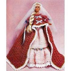 Home » Barbie Doll Crochet Patterns Sundress Playsuit Wedding Dresses ...