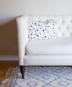 Indigo Moroccan Diamond rug // Caitlin Wilson