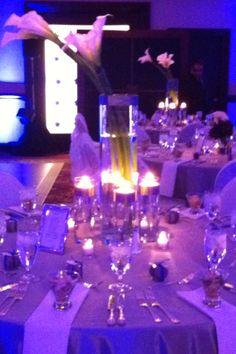Romantic Candle Light White Table Setting,