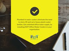 Get unlimited superior quality water to quench your thirst, at your company workplace, with plumbed-in water coolers from EWT Water Softener Professionals. #EWTechnologies http://www.ewtechnologies.co.uk/plumbed-in-water-coolers