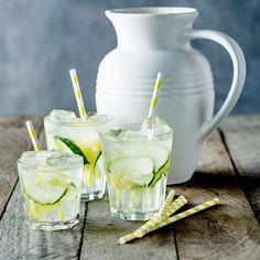 Cucumber and Mint Lemonade - Le Creuset Recipes  #lecreuset #gathering #clemengold
