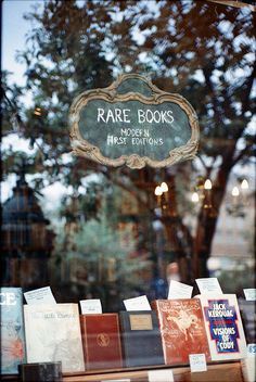 books | window display.