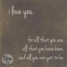 12x12 Hanging Wall Sign - I love you for all that you are - words of encouragement on Etsy, $35.00