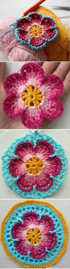 Crochet Beautiful Flower Step by Step