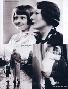 """Town and Country May 2003 Special Issue: """"Audrey Hepburn A Loving Look."""" At the top she is nine years old with her mother in On the left, she is with her father in Linkebeek in the right she is with her nanny, Greta Hanley, in 1931 Young Audrey Hepburn, Audrey Hepburn Photos, Audrey Hepburn Style, Golden Age Of Hollywood, Vintage Hollywood, British Actresses, Actors & Actresses, Robert Wolders, Star Wars"""