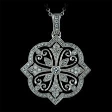 Beverley K 18kt white gold filigree diamond pendant