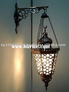Handmade Wall Mount Hanging Lamp W Deco Bracket Light