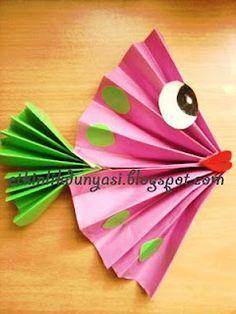 Peix de paper plegat