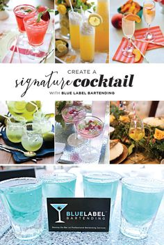 No wedding reception is complete without the personal touch of a signature cocktail!  These fun concoctions not only reflect the personality of the bride and groom, but can also be tailored to match the color palette and theme of the event! Our friends at Blue Label Bartending are true pros when it comes to crafting these spirited spirits and if you're looking for a team of licensed bartenders to tend your wedding or special occasion, look no further! #bridesofok #bellini #cocktails #holiday