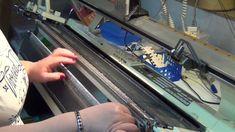 Seelenwärmer mit der Strickmaschine Teil 2 - Kontrastgarnanschlag