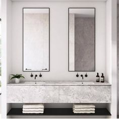 Dreaming of a luxurious or designer bathroom? We've gathered together lots of gorgeous bathroom a few ideas for small or large budgets, including baths, showers, sinks and basins, plus master bathroom decor suggestions. Minimalist Bathroom Design, Modern Bathroom Design, Bathroom Interior Design, Minimalist Decor, Modern Bathrooms, Bathroom Designs, Beautiful Bathrooms, Minimalist Bathroom Inspiration, Modern Bathtub