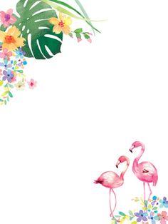 Liz Yee - Flamingo Card 2 Flamingo Birthday, Flamingo Party, Flamingo Flower, Flamingo Cake, Flamingo Wallpaper, Flower Wallpaper, Summer Wallpaper, Aloha Party, Invitation Background