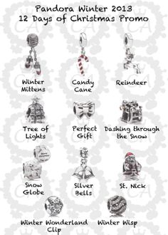 12 Days of Christmas with Pandora- collect all 12- Black Friday bead not pictured revealing will be on Black Friday