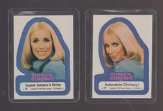 Set of 2 Three's Company TV show trading cards Suzanne Sommers Chrissy Snow Dark Crystal Movie, The Dark Crystal, Chrissy Snow, Andre The Giant, Three's Company, Trading Cards, Favorite Tv Shows, 1970s, Third