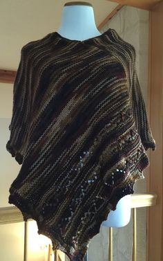 Hand Knitted Poncho by StellaAndEllieShop on Etsy