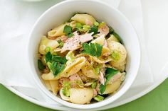 Low GI: The family will be devouring these zesty tuna pasta shells by the mouthful in under 30 minutes. Herb Pasta Recipe, Pasta Recipes, Snack Recipes, Cooking Recipes, Healthy Recipes, Cooking Ideas, Snacks, Healthy Pasta Dishes, Healthy Pastas