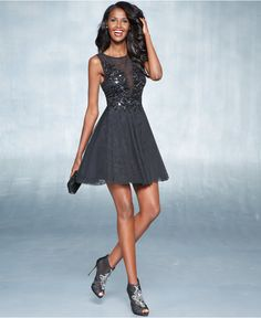 Holiday 2014 Fit & Flare Dresses Sequin A-Line Look - Fit & Flare Dresses - Women - Macy's