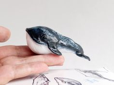 READY TO SHIP: Fantasy Whale Totem Figurine made with Polymer