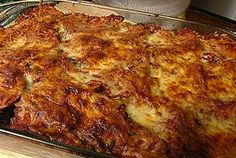 Eggplant parm!  We eat it every year on New Year's eve!