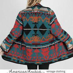Southwestern Native Indian Blanket Jacket