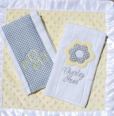 The Charley Jane burp cloth set.