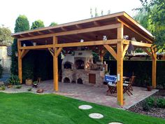 Fedett búbos kemence építése grillezővel Outdoor Kitchen Patio, Patio Bar, Backyard Patio, Outdoor Living, Outdoor Kitchens, Garden Sitting Areas, Pool House Plans, Architectural House Plans, Outside Room