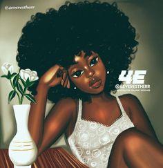 quand le soleil se couche Throw Blanket by - x Blanket Black Art Painting, Black Artwork, Black Love Art, Black Girl Art, Natural Hair Art, Natural Hair Styles, Black Girls Power, Drawings Of Black Girls, Girl Drawings