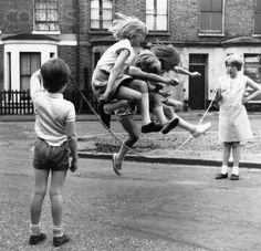 Girls Jump Rope in Zennor Road ~ Lambeth, London