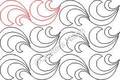 SCF-542 Curly Wave v2 quilting design