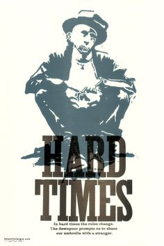 Image of Beautiful Angle poster, Hard Times.