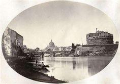 1866/68 circa autore non identificato . Tevere a ponte S. Angelo